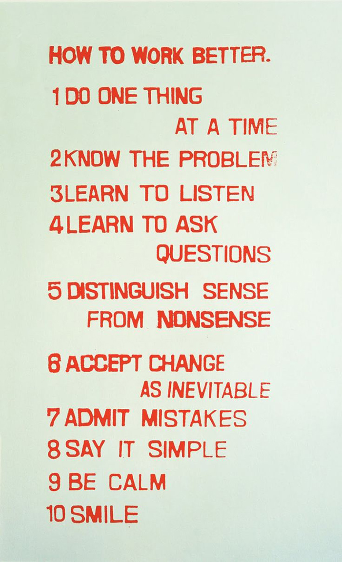 14 Fischli Weiss How to Work Better 1991