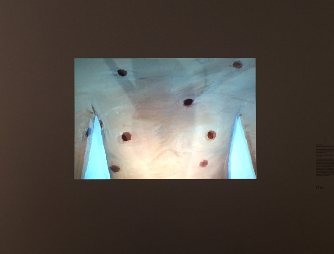 2 Robert Gober slides of a changing painting 1982