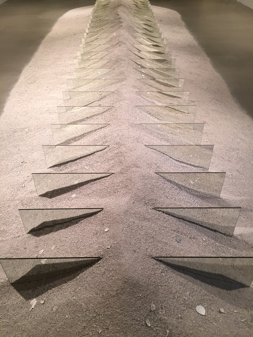 3 Robert Smithson mirrors and shelly sand 1969 to 70